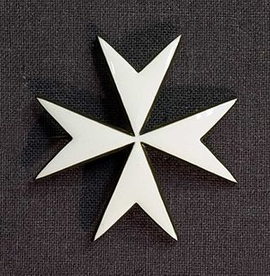 Order of Saint John (Bailiwick of Brandenburg) - Star or breast badge of the Order, which is worn on the left jacket breast.