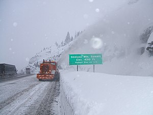 Siskiyou Summit - Image: Oregon DOT Siskiyou Summit (2928843767)