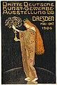 Plakat zur maßgeblich von der Zunft organisierten Dritten deutschen Kunstgewerbe-Ausstellung 1906