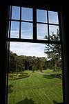 oud groevenbeek-0034 - landhuis manor - garden view from inside