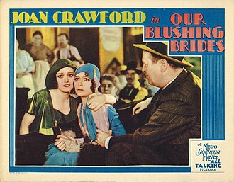 Robert Emmett O'Connor - Lobby card from Our Blushing Brides (1930) with O'Connor at right