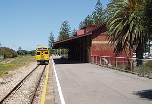 Rail gauge in Australia - Outer Harbor station with gauge convertible sleepers in November 2005