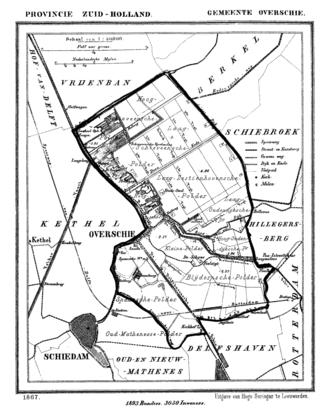 Overschie - Overschie in 1867.