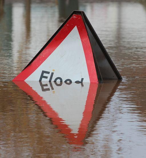 Overwhelmed Flood sign, Upton-upon-Severn