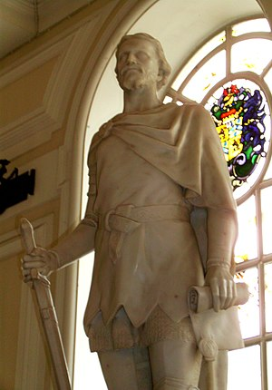 Welsh people - Sculpture of Owain Glyndŵr, the last native Welsh person to hold the title Prince of Wales