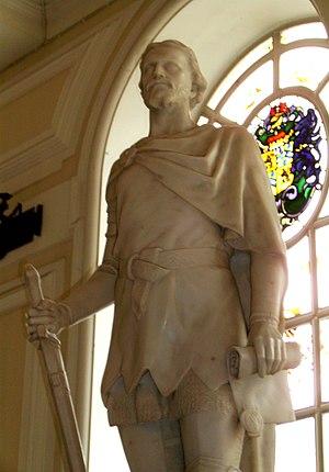 Owain Glyndŵr at City Hall, Cardiff, Wales
