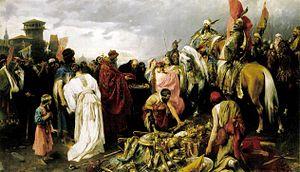 Pál Vágó (1853-1928) painter The Hungarian at Kiev (1896-99)