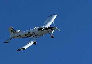 PAC Cresco - PAC Cresco in flight in topdressing duty