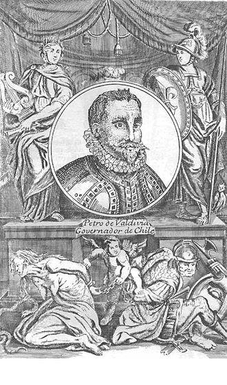 Pedro de Valdivia - Alonso de Ovalle's 1646 engraving of Pedro de Valdivia.