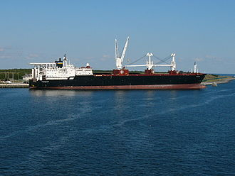 Strategic sealift ships - PFC William B. Baugh docked at Port Canaveral, Florida in 2008