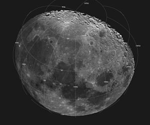 Space exploration - The Moon as seen in a digitally processed image from data collected during a spacecraft flyby