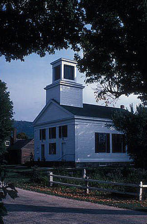 Plymouth, Vermont - Union Christian Church (1840) in the Plymouth Historic District