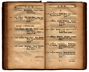 Isaac Rand - Image: Page of Index plantarum officinalium ... in horto Chelseiano