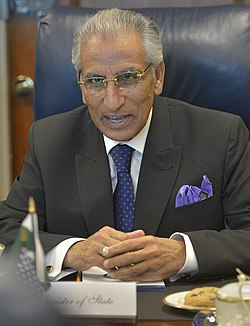 Pakistan's Minister of State Tariq Fatemi, July 24, 2015.jpg