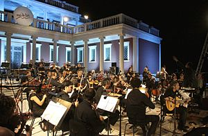 Palataki (Thessaloniki) - A summer concert in the courtyard