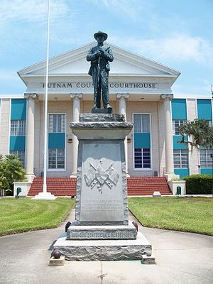 Putnam County Courthouse (Palatka, Florida) - Image: Palatka Conf Mem statue 01