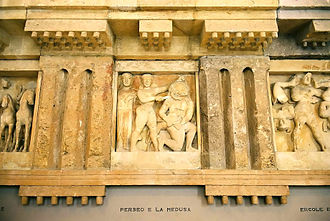 Regional Archeological Museum Antonio Salinas - Metope of Temple C in Selinunte