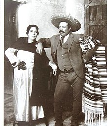 Villa and his wife Luz Corral shortly before his assassination 85e16d257ab