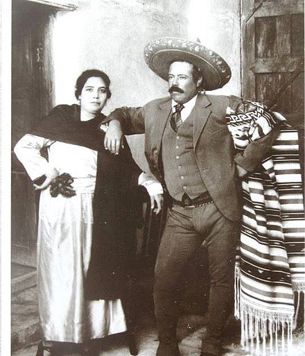 Villa and his wife Luz Corral shortly before his assassination Pancho y Dona.jpg