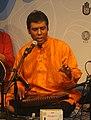 Pandit Tushar Dutta performing at Mayar Madhuri, Organized by Bengal Foundation.jpg