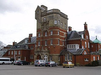 Pangbourne College - Devitt House, with the parade ground in the foreground