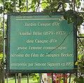 Panneau Amélie Hélie, Jardin Casque d'Or, Paris 20.jpg