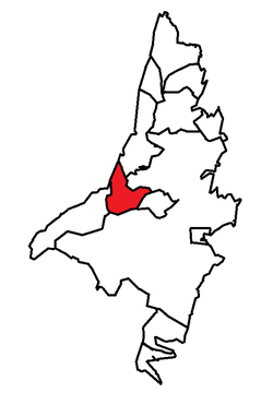 Location of Paradise (red) in the St. John's Metropolitan Area.