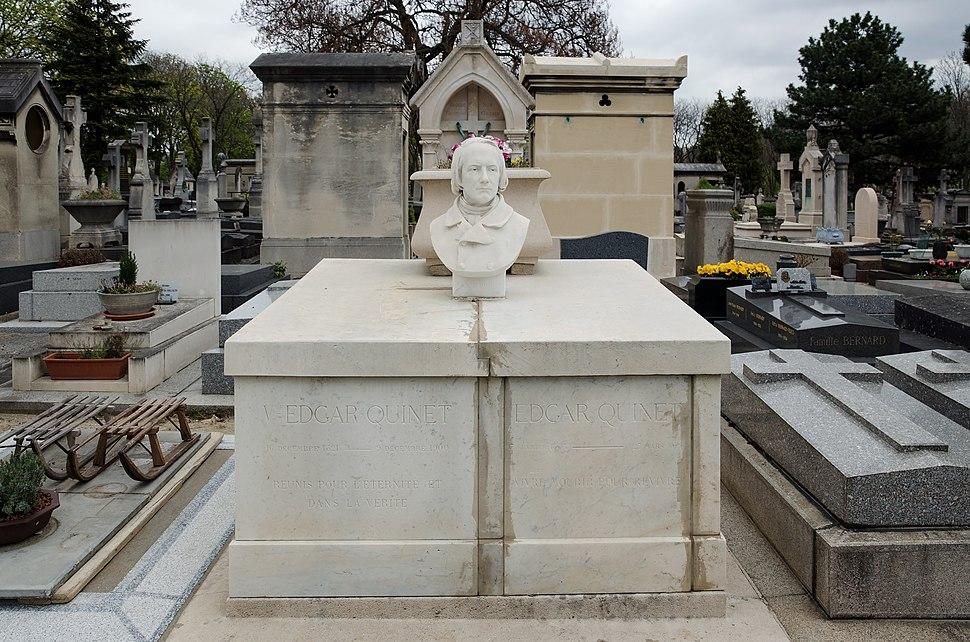 Paris - Cimetière du Montparnasse - Edgar Quinet 1
