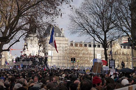 Paris Rally, 11 January 2015 - Monument à la République - 02.jpg