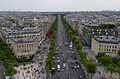 Paris and Champs-Élysées from the Arc de Triomphe, Paris 14 June 2015.jpg