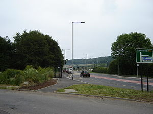 A64 road - Park and Ride junction at Scarborough