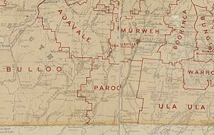Shire of Paroo - Map of Paroo Division and adjacent local government areas, March 1902