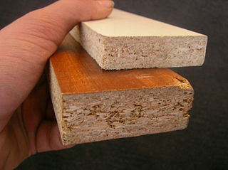 Particle board pressed wood board