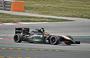 Force India VJM07 - Pascal Wehrlein driving a relivered VJM07 at pre-season testing for the 2015 season