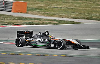Wehrlein testing for Force India during the 2015 pre-season Pascal Wehrlein-Force India 2015 (2).JPG