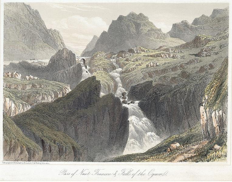 File:Pass of Nant Francon & Falls of the Ogwen.jpeg