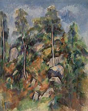 Paul Cézanne - Rocks and Trees (Rochers et arbres) - BF286 - Barnes Foundation.jpg