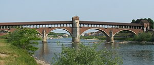 Ponte Coperto - Image: Pavia ponte coperto sul Ticino