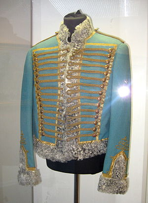 War and Peace (film series) - A Hussars officer's costume, worn by actor Nikolai Rybnikov who portrayed Denisov.