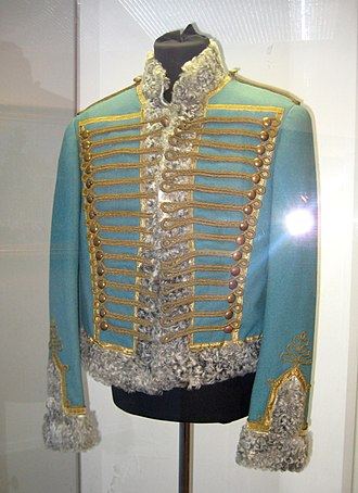 2nd Pavlograd Life Hussar Regiment - Uniform worn by actor playing Vasily Denisov in the War and Peace film series