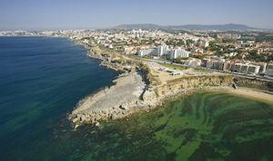 Portuguese Riviera - A view of Cascais and Estoril.