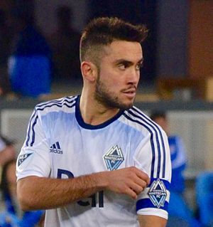 Pedro Morales (footballer) - Morales playing for Vancouver Whitecaps FC in 2015