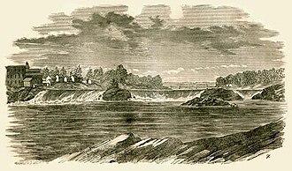Topsham, Maine - Image: Pejepscot Falls, Androscoggin River, ME