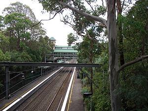Pennant Hills railway station - Northbound view