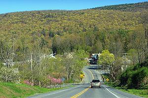Pennsylvania Route 45 - Route 45 as it heads into Woodward, Pennsylvania