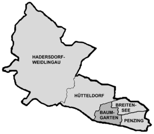 Baumgarten, Vienna - Map of Baumgarten as part of Penzing