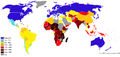 Percentage population living on less than 2 dollars day 2007-2008.png