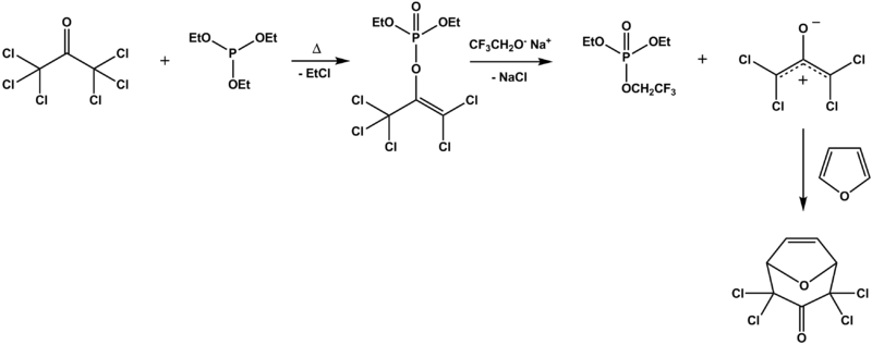 Perkow reaction hexachloroacetone triethylphosphine adduct