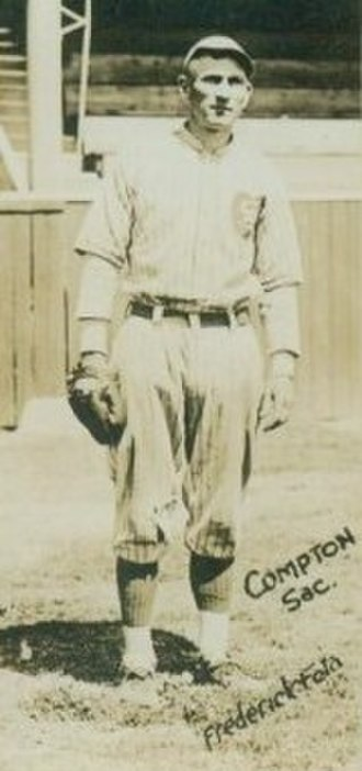 """Phantom ballplayer - Pete Compton of the St. Louis Browns, now credited with the plate appearance of """"Lou Proctor"""""""