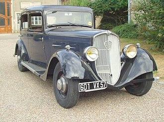 Peugeot 601 - Image: Peugeot 601 C 1934